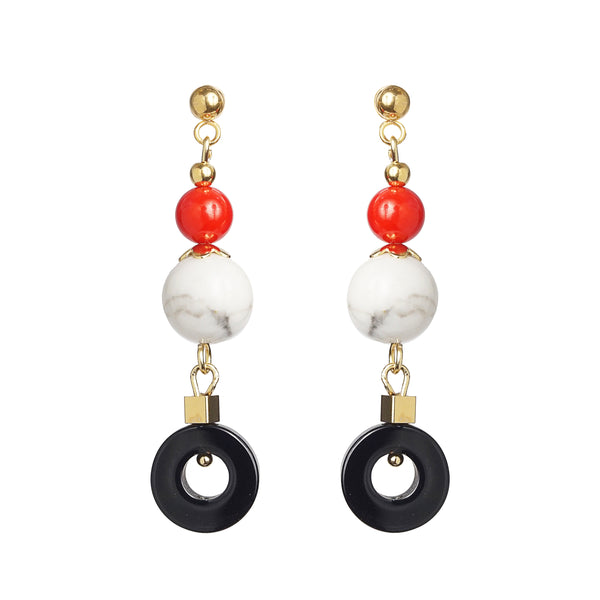 Red Coral, Howlite, and Black Onyx - Gaea | Crystal Jewelry & Gemstones (Manila, Philippines)