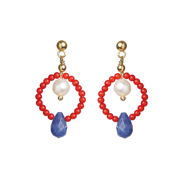 Red Coral, Freshwater Pearl, and Sodalite - Gaea | Crystal Jewelry & Gemstones (Manila, Philippines)