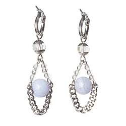 Blue Lace Chalcedony 10mm and Clear Quartz - Gaea | Crystal Jewelry & Gemstones (Manila, Philippines)