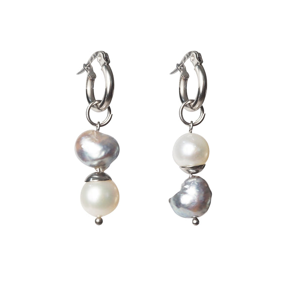 Gray Baroque Pearl and White Freshwater Pearl - Gaea | Crystal Jewelry & Gemstones (Manila, Philippines)