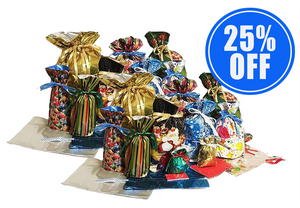 1 Set of 15 Christmas Drawstring Gift Bags + 1 Set 25% OFF