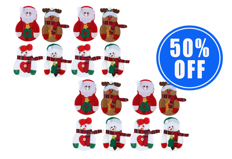 1 Set of Christmas Tableware Holders (8 Pcs) + 1 Set 50% OFF