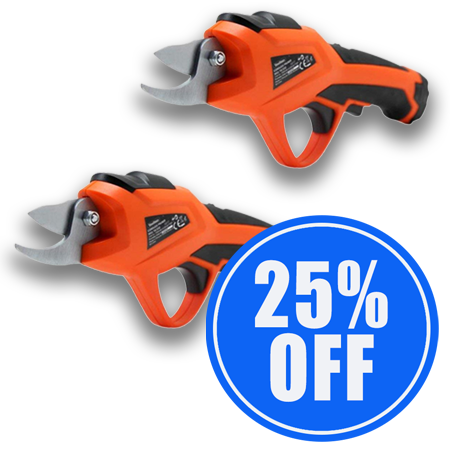 1 x Electric Pruning Shears + 1 25% OFF!