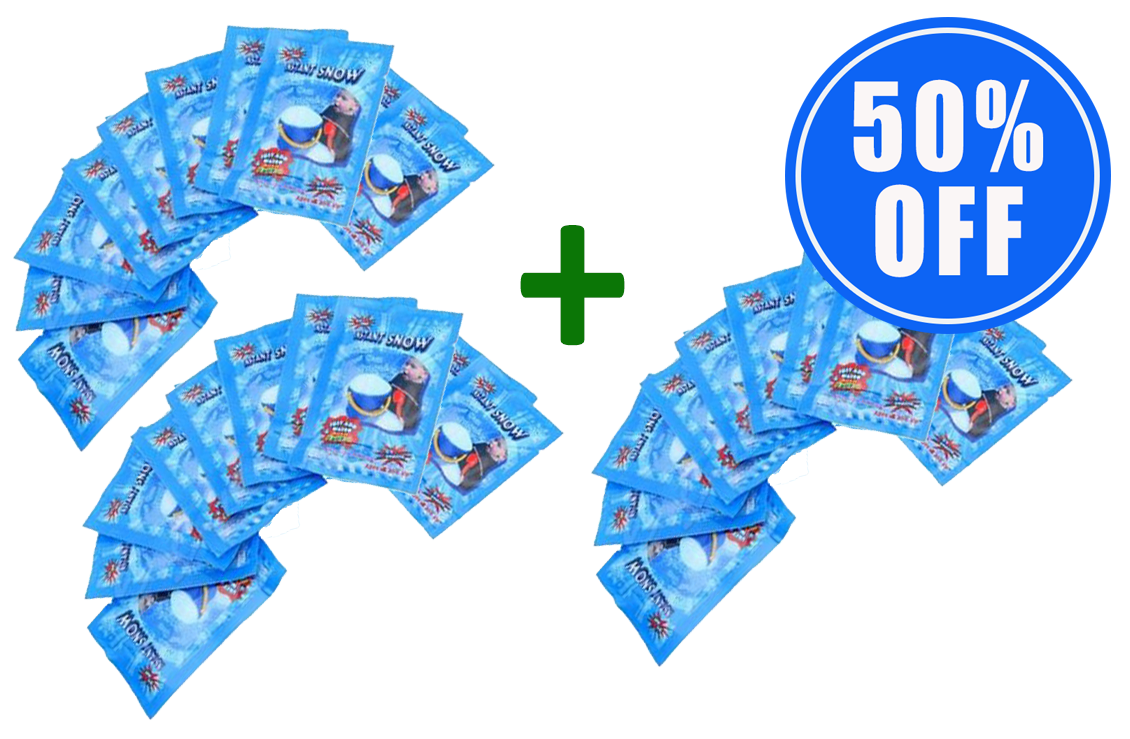 2 x Instant Snow (Packs of 10) + 1 Pack 50% OFF