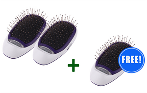 2 Ionic Hair Brushes + 1 FREE