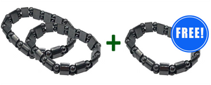 2 Magnetic Pro Weight Loss Bracelets + 1 FREE