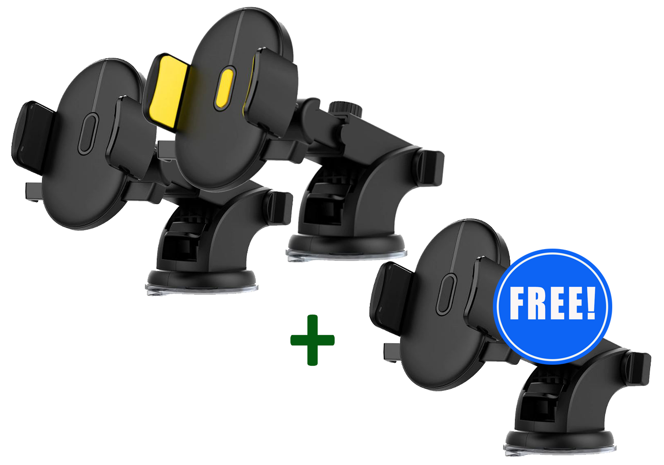 2 Universal Windshield Phone Holders + 1 FREE