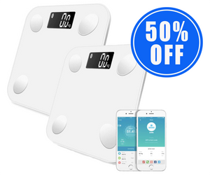 1 Smart Bluetooth Body Scale + 1 50% OFF