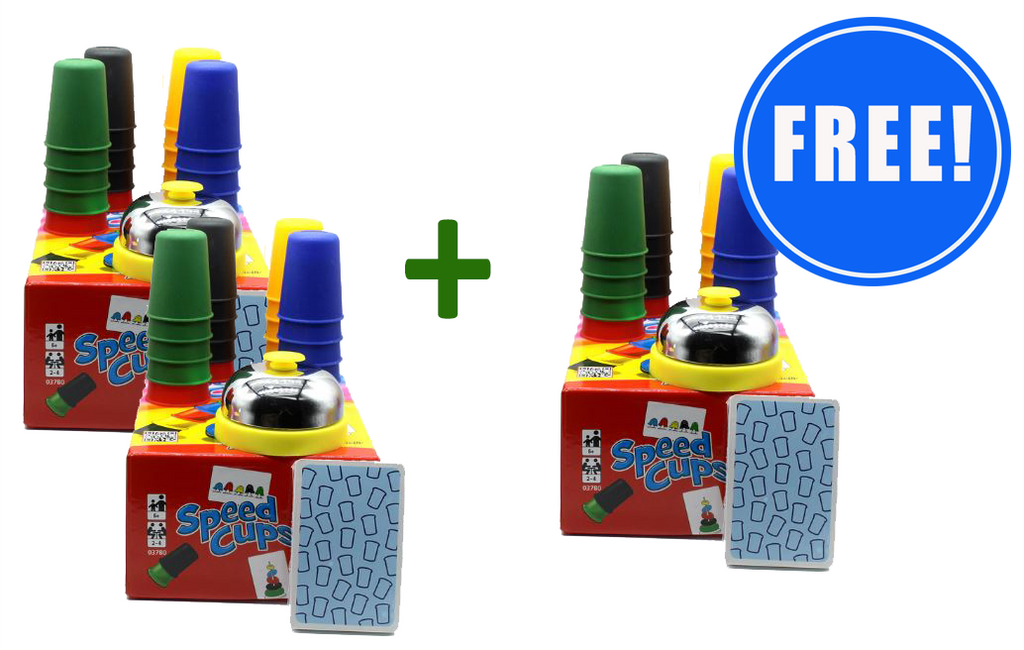 2 Speed Cups Game Sets + 1 Set FREE!