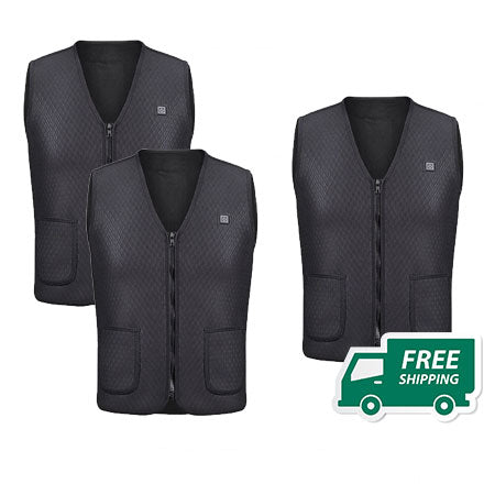 2 USB Heated Outdoor Vests + 1 FREE!