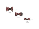 "Bow Tie ""Golfer""- Red Silk Pre-tied Bow Tie - Men's Accessory - Hand made in USA"
