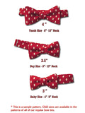 "Boys Bow Tie ""Santa"" - Bow Ties for Infant, Boys and Youth - Hand Made in USA"