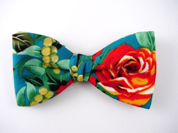 Red Rose Hawaiian Bow Tie