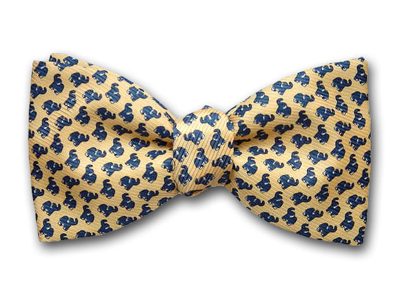 Elephant Silk Bow Tie for Men.
