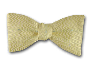 "Silk Bow Tie ""Diamond""- Stylish Pre-Tied and Free Style BowTie - Hand Made in USA"