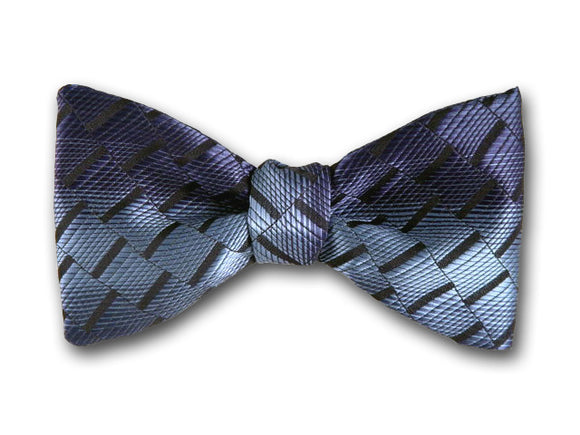 Blue Woven Silk Bow Tie