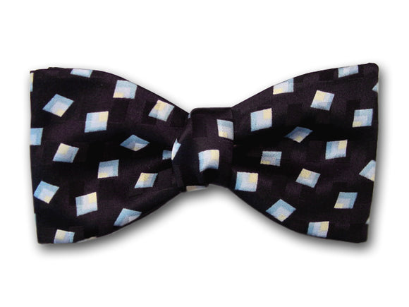 Black Men's Silk Bow Tie.