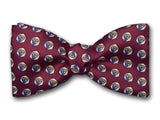 Burgundy Red Bow Tie. Silk Bowtie for Men.