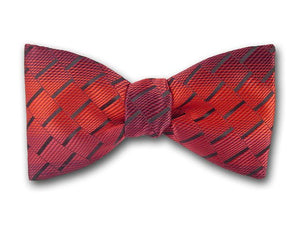 Red Men's Bow Tie. Mars Bow Tie In Pre-tied and Freestyle.