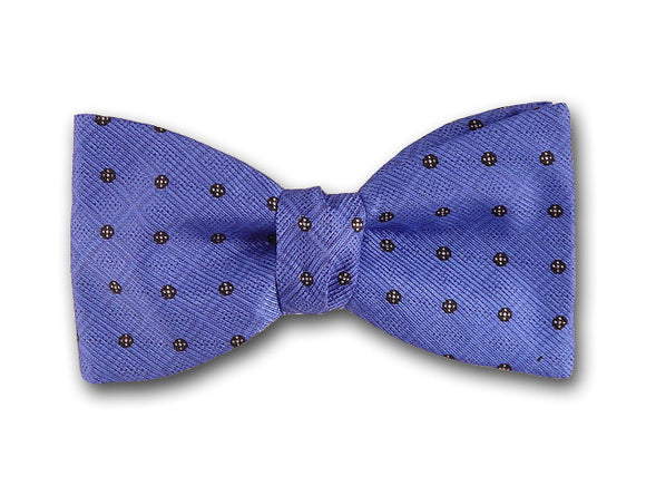 Black and Blue Bow Tie. Silk Bow Tie for Men.