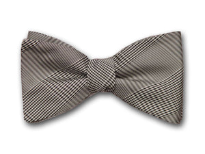 "Bow Tie ""Pittsburgh"" - Plaid Silk Mens Accessory - Hand Crafted in USA"