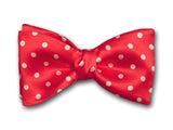 "Stylish Bow Tie ""Red Polka"" - Fine Silk Men's Accessory - Hand Made in USA"