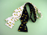 "White Bow Tie""Palm Tree & Pineapple"" - Hand Made in USA"