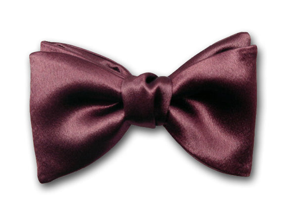 BurgundySolid Bow Tie. Silk Bow Tie for Men. Formal Men's Accessory.