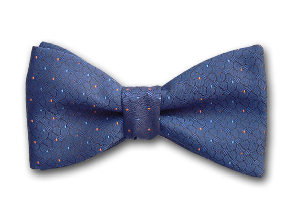 Blue Silk Men's Bow Tie.