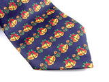 "Necktie ""Christmas Bells"" - Holiday Necktie - Pure Silk Men's Accessory - Hand Made in USA"