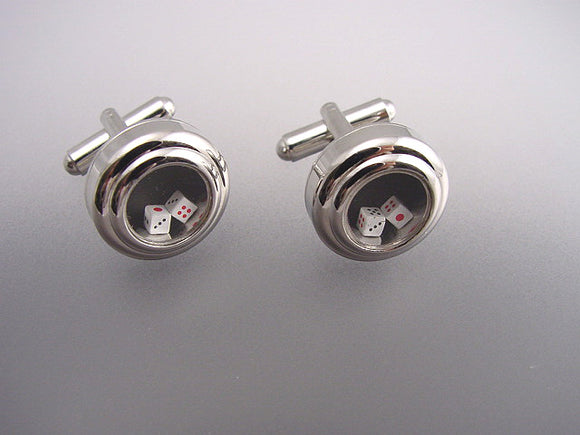 Moving Dice Cufflinks - Novelty Cufflinks - Original Men's Cufflinks