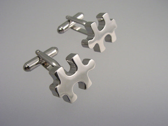 Puzzle Piece Cufflinks - Novelty Cufflinks - Original Men's Cuff Links