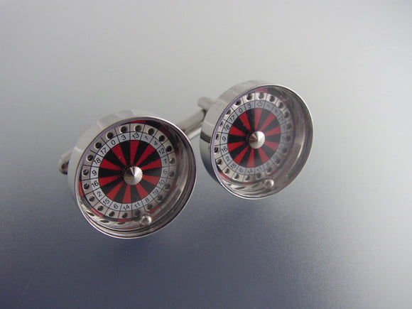 Roulette Wheel Cufflinks - Novelty Cufflinks - Original Men's Cuff Links