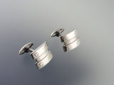 Silver Cufflinks with Screw Accents - Stainless Steel Cufflinks - Modern Men's Accessory