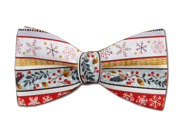 Christmas Bow Tie. Winter Holiday Men's Bowties.