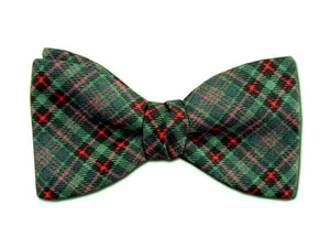 Christmas Plaid Bow Tie in Green and Red.