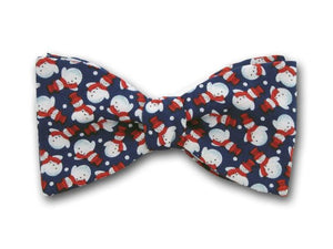 Blue Holiday Bow Tie.