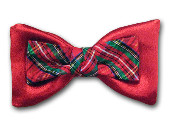 Christmas Red Bow Tie. Holiday Men's Bow Tie.