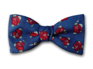 Red Hibiscus Hawaiian Bow Tie.