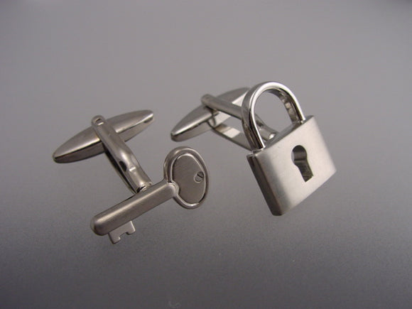 Key and Padlock Cufflinks - Novelty Cufflinks - Original Men's Cuff Links