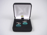 Malachite Cufflinks - Natural Gemstone Cuff Links - Hand Made in USA