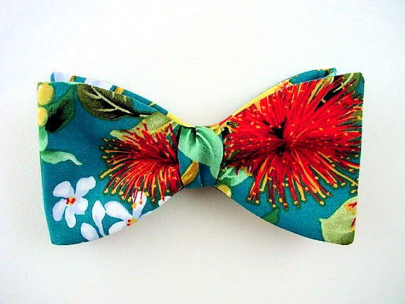 Hawaiian bow tie for men.