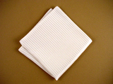 "White Pocket Square ""Grandiose"" - Pure Silk Handkerchief - Hand Made in USA"