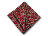 Paisley pure silk pocket square. Paisley on red. Paisley on navy blue