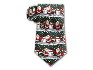 Christmas Necktie with Santa and Snowmen.