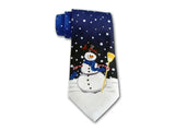 "Holiday Necktie ""Snowman"" - Christmas Silk Men's Accessory"