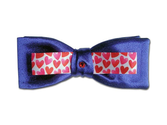 Royal Blue Bow Tie with Hewrts.