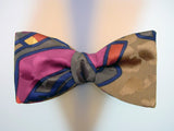 Hand Painted Men's Silk Bow Tie. luxury Bowtie.
