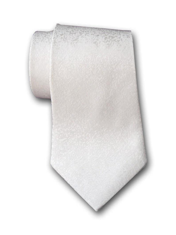 White Silk Necktie for Men. Formal Men's Necktie.