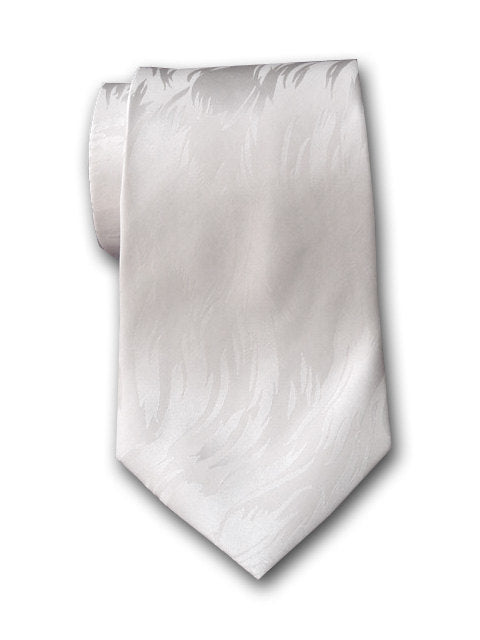 White silk necktie